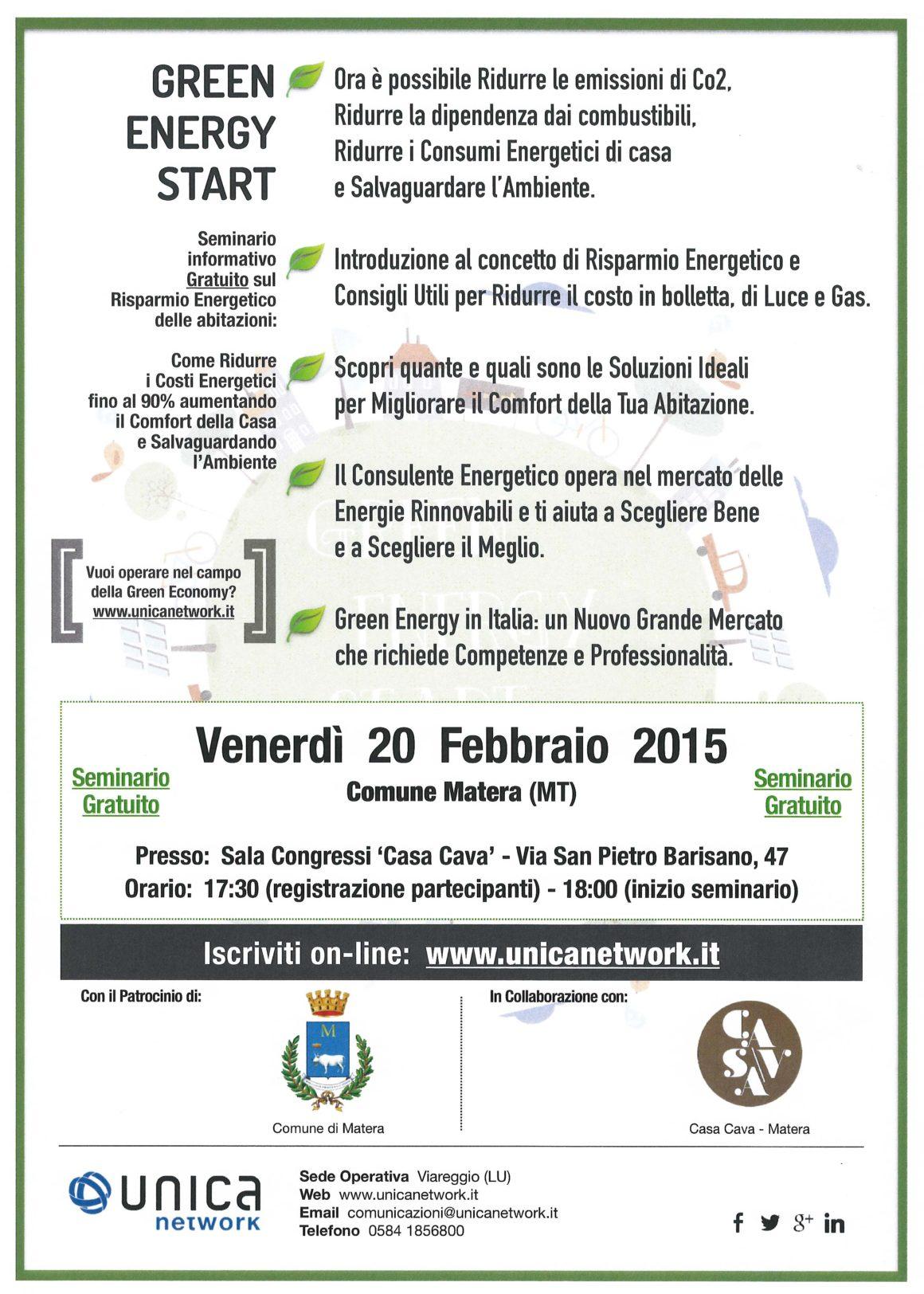 Green Energy Start – seminario gratuito