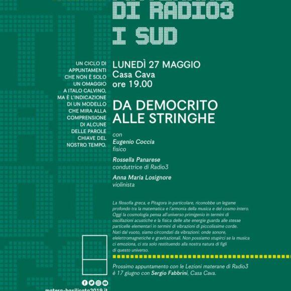 LEZIONI MATERANE DI RADIO3