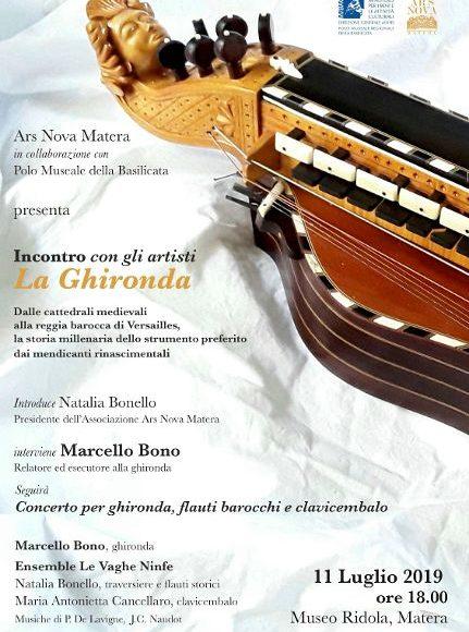 """L'11 luglio a Matera Ars Nova presenta """"La Ghironda: dalle cattedrali medievali alla reggia di Versailles, la storia millenaria dello strumento preferito dai mendicanti rinascimentali"""""""
