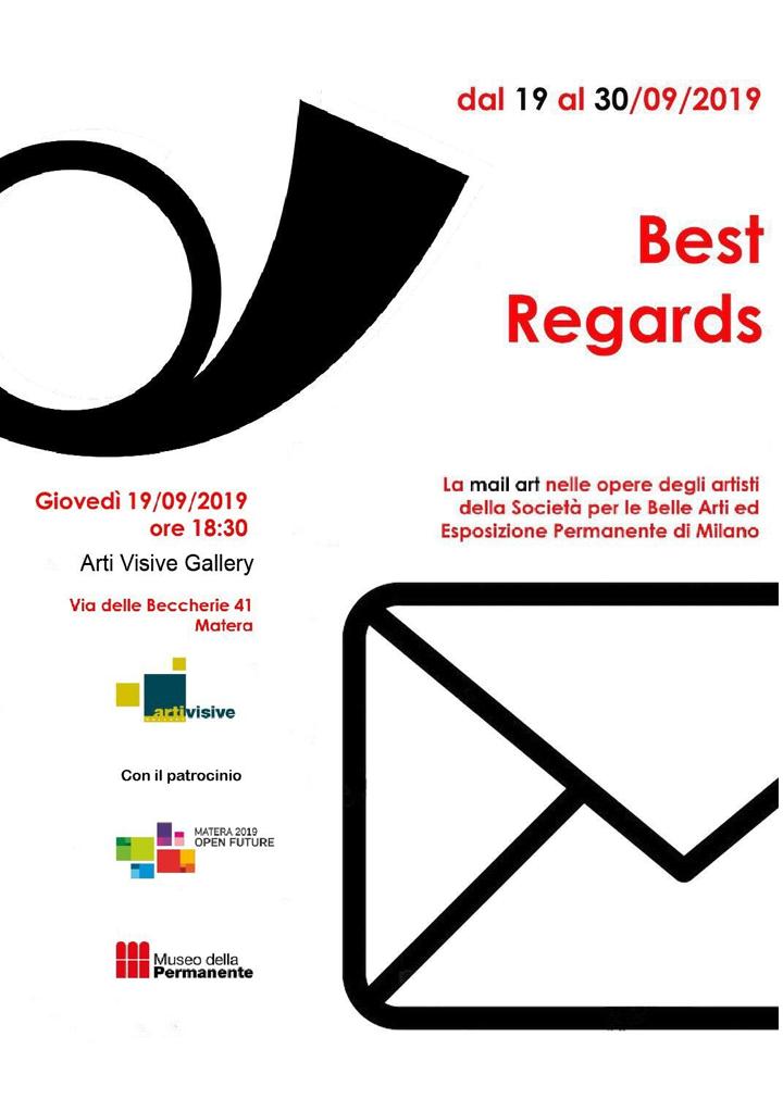 """Matera, fino al 30 settembre """"Best regards"""": opere di mail art dei soci artisti della Società per le Belle Arti ed Esposizione Permanente di Milano"""