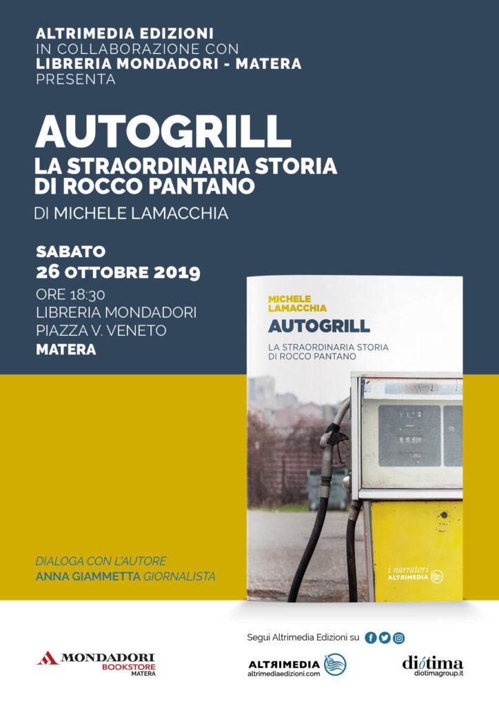 """""""Autogrill. La straordinaria storia di Rocco Pantano"""": domani a Matera presentazione del libro di Michele Lamacchia"""