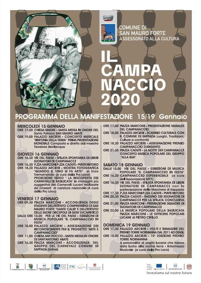 San Mauro Forte (MT), al via l'edizione 2020 del Campanaccio
