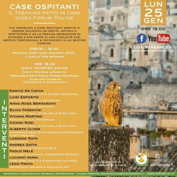"""""""Case Ospitanti – Il trekking fatto in casa"""", oggi video forum online"""