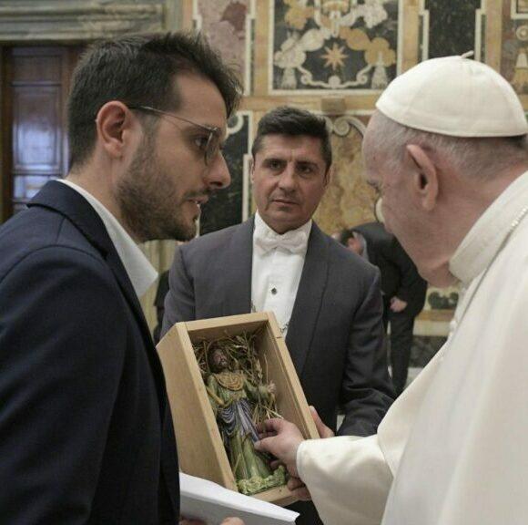 """Il Maestro Santochirico: """"Una grande gioia incontrare il Santo Padre. Sull'invito a Matera il prossimo anno, mi ha risposto con un profondo sorriso"""""""